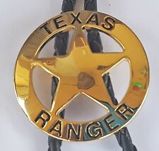 STAR THE STATE OF TEXAS RANGER GOLD RODEO COWBOY BOLOTIE WESTERN BOLO TIE