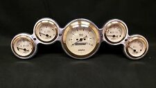 5 GAUGE STREET ROD DASH CLUSTER GOLD