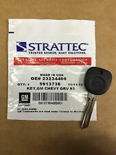 STRATTEC Recall GM Chevy Logo Circle Plus Transponder Key Blank 23234400 5913736