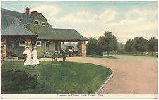 Entrance to Ottawa Park in Toledo OH Postcard