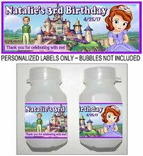 30 DISNEY SOFIA THE FIRST BIRTHDAY PARTY FAVORS BUBBLE LABELS