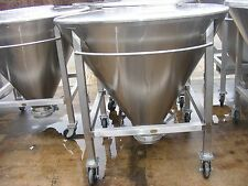 16 Cu.Ft. 125 Gallon Sanitary Stainless Steel Conical Portable Tote Tanks