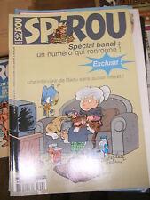 Spirou N° 3357 2002 BD Numéro spécial banal Bédu Cédric Cactus Club Les psy