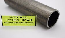 "1' DOM 1-3/4'' OD x .120'' WALL Seamless ROUND Steel Tube 1.75"" od x 12'' Long"