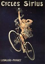 ADVERT, CYCLES SIRIUS, SEMI-NAKED WOMAN ON BICYCLE, FROM POSTER, MAGNET