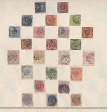 DENMARK DANMARK STAMPS OLD TIME ALBUM PAGE No 4 WITH RARE EARLY POSTAGE STAMPS