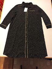 Who What Where Black Beige Polka Dot Long Sleeve Shirt Dress Target XXL NEW NWT