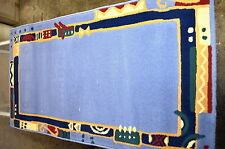 Teppich In Design Blues hellblau 60x110 cm Dessin 2001 100% Polypropylen