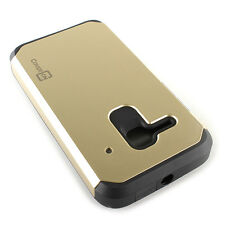 For ALCATEL One Touch Evolve 2 4037T Case - Gold/Black Armor Cover