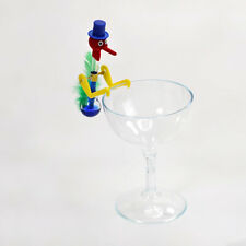 Mini Retro Glass Drinking Bird Dippy Lucky Novelty Happy Duck Bobbing Toy w/ Cup