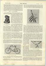 1898 New Trent Saddle Northfleet Cycle Protean Gear