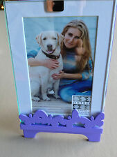 NEW SIXTREES Ltd. 4x6  5x7 Laser Purple Butterflies Standing Picture Frame Glass