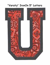 Varsity IronOn NoSew ANY/ALL Available~Letters A-Z~Greek Alpha to Omega~NEW!
