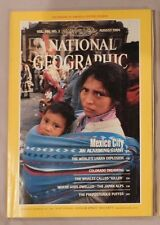 National Geographic August 1984 Mexico City Population Colorado Whales Japan