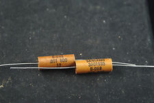 Two NOS Sangamo .001 uF 600 Vdc Audio Tone Paper/Oil Capacitors