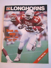 1990 TEXAS LONGHORNS VS SMU - OFFICIAL FOOTBALL GAME PROGRAM - TUB FP
