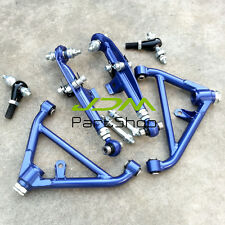 for NISSAN S13 S14 S15 180SX FRONT REAR LOWER CONTROL ARM blue SUSPENSION KIT