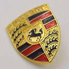 Metal Steering Wheel Crest Badge Emblem for Porsche 911 Carrera 993 981 968 996