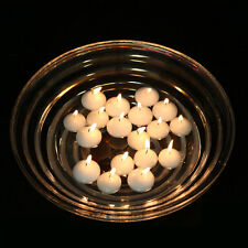 "White 2"" Round Floating Candle Disc Floater Candles Wedding Party - Set of 24"