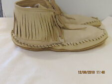 LEATHER ELKSKIN MOCCASIN NATIVE  MOUNTAIN MAN,SASS men 9 handmade