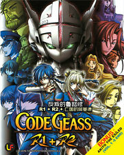 DVD Code Geass R1 + R2 Vol 1-50 End + Special + Akito The Exiled (VOL 1-5 END)