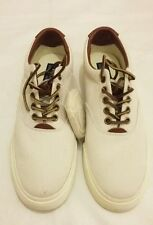 POLO RALPH LAUREN VAUGHN-NE Canvas Sneakers Shoe Beige Size uk 7 eu 41