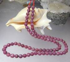 NATURAL HAND FACETED PINK RUBY RUBIES ROUND BEADS 105ct 15.5 STRAND 5-5.5mm