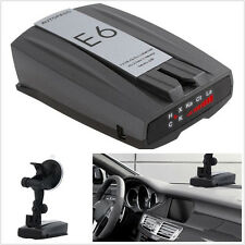 DC12V Black 360° Full Band E6 Autos Car Speed Laser Radar Detector English Voice