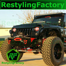 07-16 Jeep JK Wrangler Gloss Black Angry Bird Replacement Grille Shell Rubicon