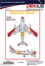 Decals F-86 Sabre - Patrulla Ascua Aerobatic Team-Flame Scheme 1/72 Scale