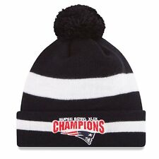 New England Patriots Super Bowl XLIX 49 Champions Cuffed Pom Knit Hat