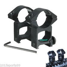 "2x 1"" INCH QD HIGH PROFILE SEE THROUGH SCOPE RINGS MOUNTS PICATINNY/WEAVER RAIL"