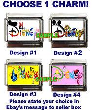 Disney Logo Word w Characters  Custom Italian Charm, Mickey, Eeyore, Tigger