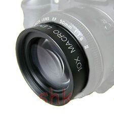 58mm +10 Close up Macro Lens for Canon XT XSi T1i T2i T6i T5 SL1 T5i EFs 18-55mm