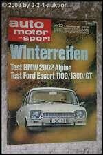 AMS Auto Motor Sport 23/68 BMW 2002 Alpina Ami 6 Fiat 125 S NSU K 70