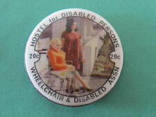 Wheelchair & Disabled Association Button Day Pinback Badge 32mm