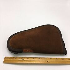 BIANCHI LEATHER SUEDE PISTOL HANDGUN SOFT CASE GUN  SMALL TO MEDIUM