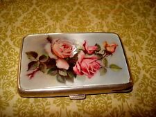 ANTIQUE STERLING SILVER WITH ENAMEL LADIES CIGARETTE CASE,CIRCA 1900
