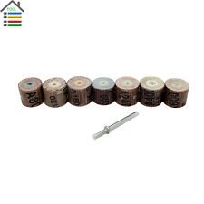 7pcs Buffing Sandpaper Mounted Point Flap Wheel With Mandrel Rotary Dremel Tools