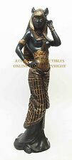 ANCIENT EGYPTIAN LARGE GODDESS BASTET STATUE CAT HUMAN FORM DEITY FIGURINE