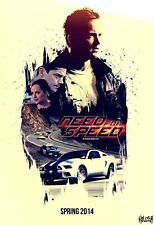POSTER NEED FOR SPEED FILM UNDERGROUND AARON PAUL MICHAEL KEATON LOCANDINA #4