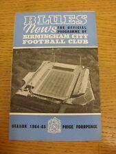 02/01/1965 Birmingham City v Tottenham Hotspur (Arruga/Doble, marcas de luz Trus).