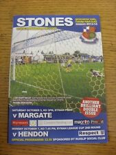 07/10/2013 Wealdstone v Hendon [Ryman League Cup] . Unless previously listed in