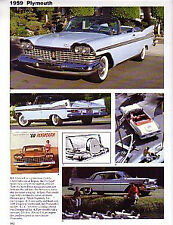 1959 Plymouth + Sport Fury Convertible Article - Must See !!