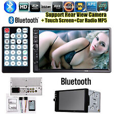 "Car Stereo Bluetooth 2 DIN 7"" HD Touch Screen MP5 Player FM Radio USB/SD/AUX-IN"