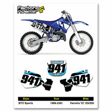 1996-2001 YAMAHA YZ 125-250 BTO Dirt Bike Graphics Custom Number Plates
