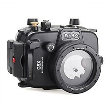 Meikon 40m/130ft Underwater Waterproof Camera Diving Housing Case for Canon G5X