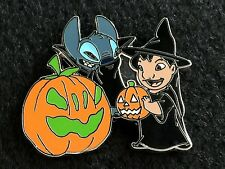 Disney Trading Pin Lilo & Stitch Halloween Vampire Witch Pumpkin Jack O Lantern
