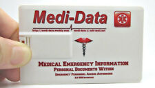 Medical Data Card - USB Flash Drive - Slimline for Wallet/Purse - 8GB Capacity