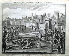 Scena dalla tragedia di padre Romano Whitehead POESIA ORIGINALE ANTICO stampa 1750